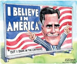 Mitt Romney cartoon from 2012 Occupy's Nowhere Man