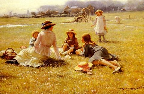 William Kay Blacklock_A_Picnic_Party