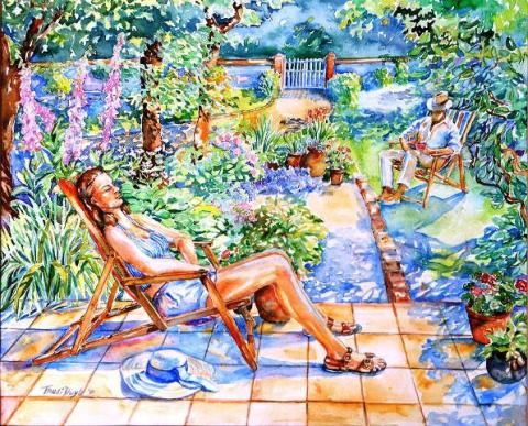 Summer in an Irish Garden - Trudy Doyle