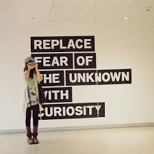 Replace fear of the unknown with curriosity