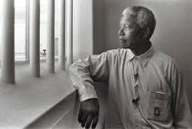 Nelson Mandela prison shot