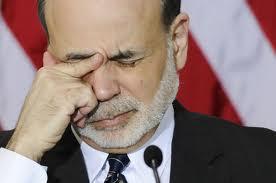 Pained Ben Bernanke