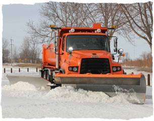 snow plow at work