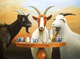 """This tea isn't baaaaaa-d,"" commented Billy the Goat..."