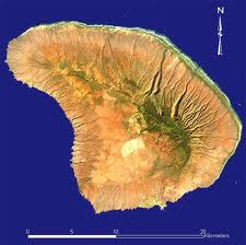 Island of Lanai, 141 sq. miles created by volcanic meritocracy...