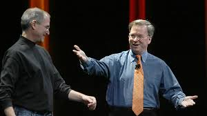 Co-conspirators Steve Jobs and Eric Schmidt