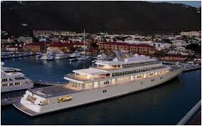 Yacht with just one basketball court...