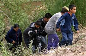 Children approaching border
