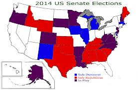 2014 Senate Elections Map