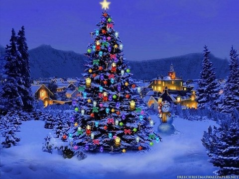 Christmas village image
