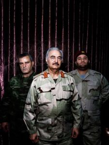 Gen. Khalifa Haftar, former Qaddifi operative and financed political refugee, former CIA affiliated Virginia resident, now, General of the Libyan National Army