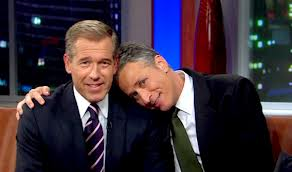 Jon Stewart and Brian Williams