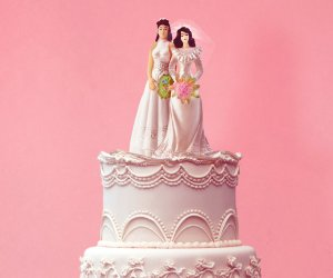 Marriage of convenience wedding cake