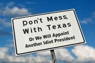 Texas idiot president
