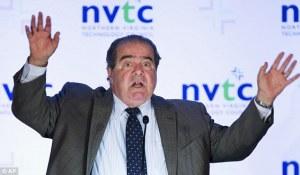 Scalia hands up