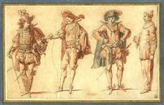 Four_Commedia_dell'Arte_Figures_claude-gillot