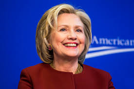 Hillary Blue background