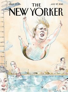 Donald Trump New Yorker Cannonball