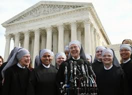 Sisters in front of the Supreme Court
