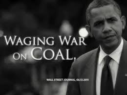 Notice how Obama looks as if he just came from a coal mine...