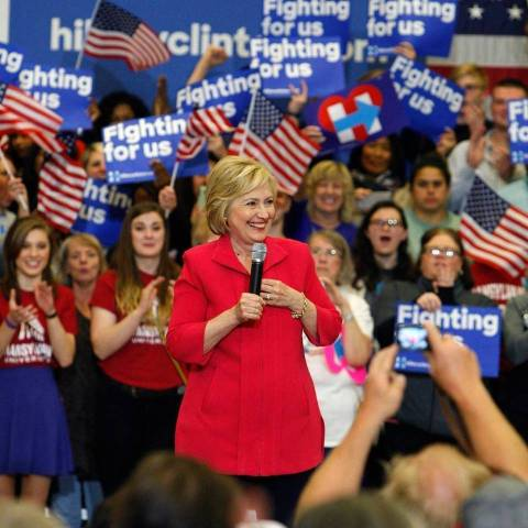 Hillary at Transylvania University, Lexington, KY on Monday...