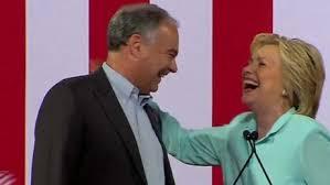 Hillary and Tim Kaine