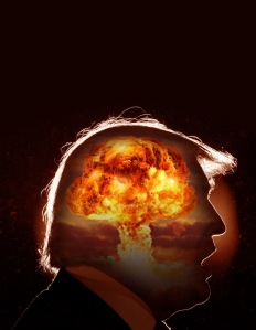 Trump head atomic bomb