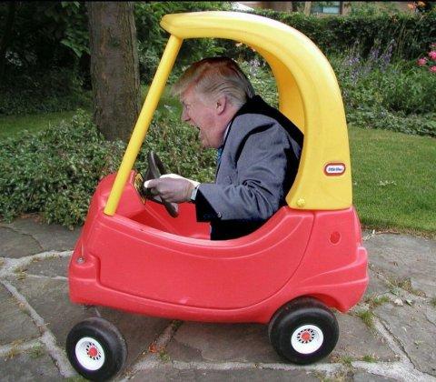 Trump Kiddie Car