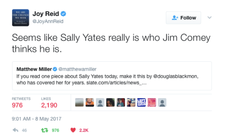 -Joy Reid Sally Yates comment